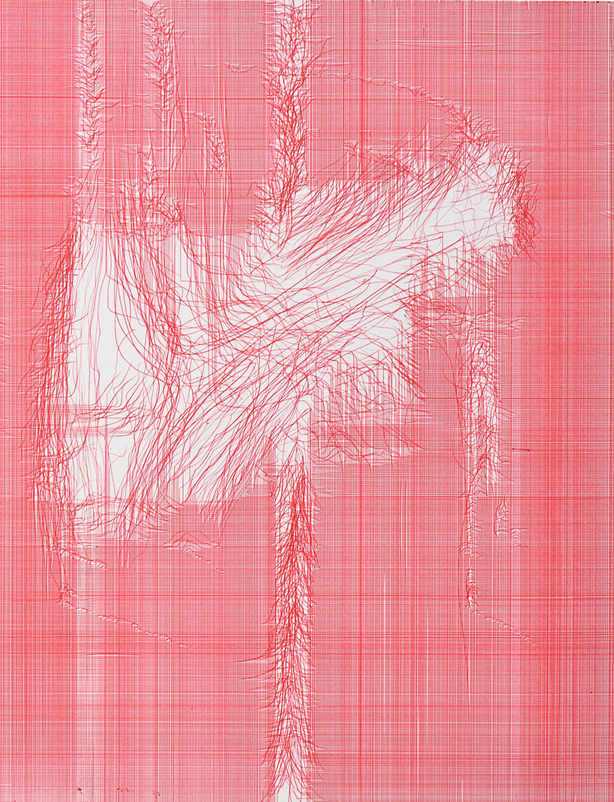 Arcangelo Corelli, Kugelschreiber auf Karton, 65 x 50 cm, 2012, Galerie Carolyn Heinz