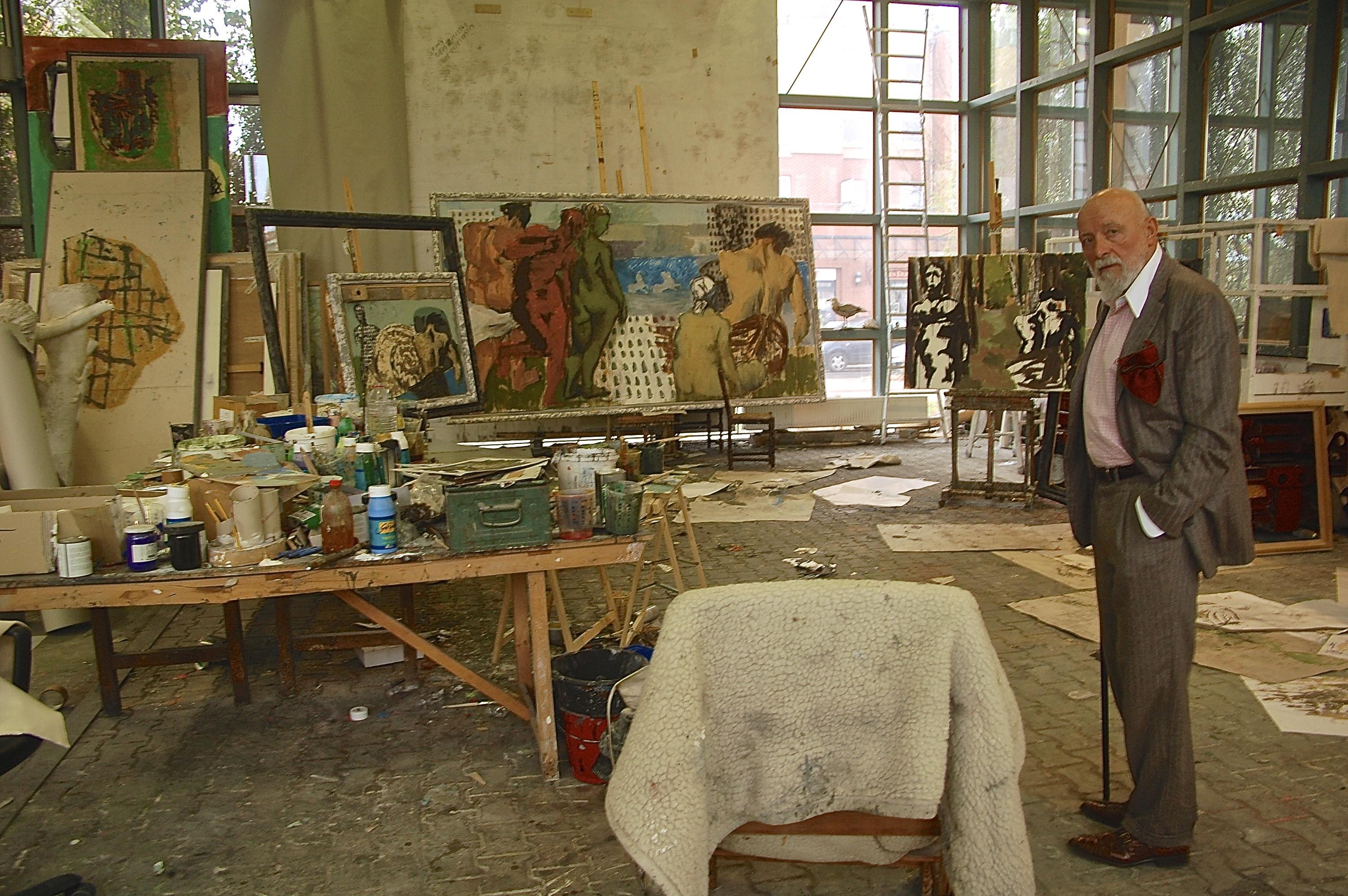 Markus Lüpertz in seinem Atelier