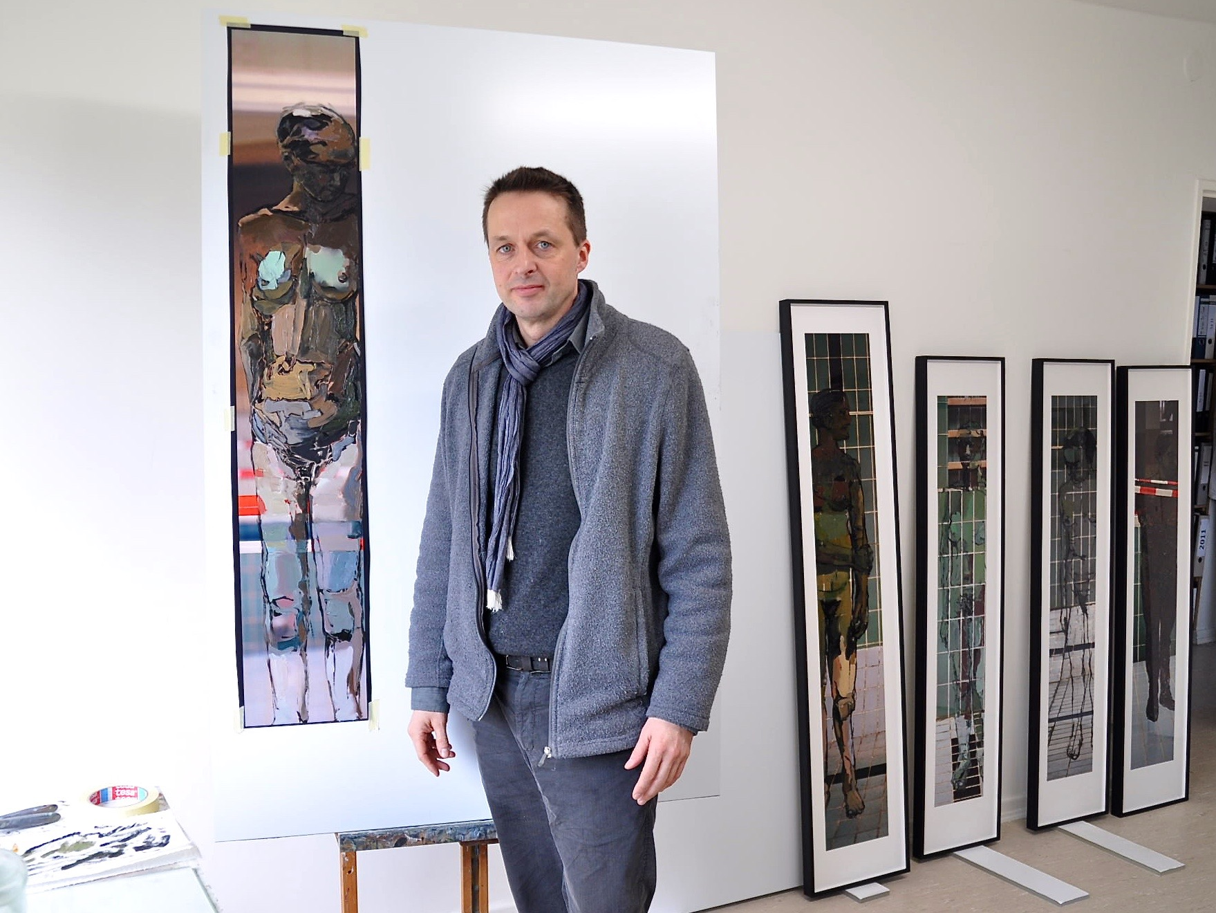 Marc Lüders im Atelier