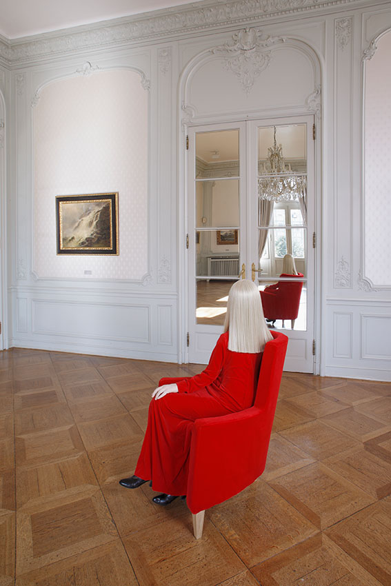 Elle (sitting in a chair), 2007,140x65x100