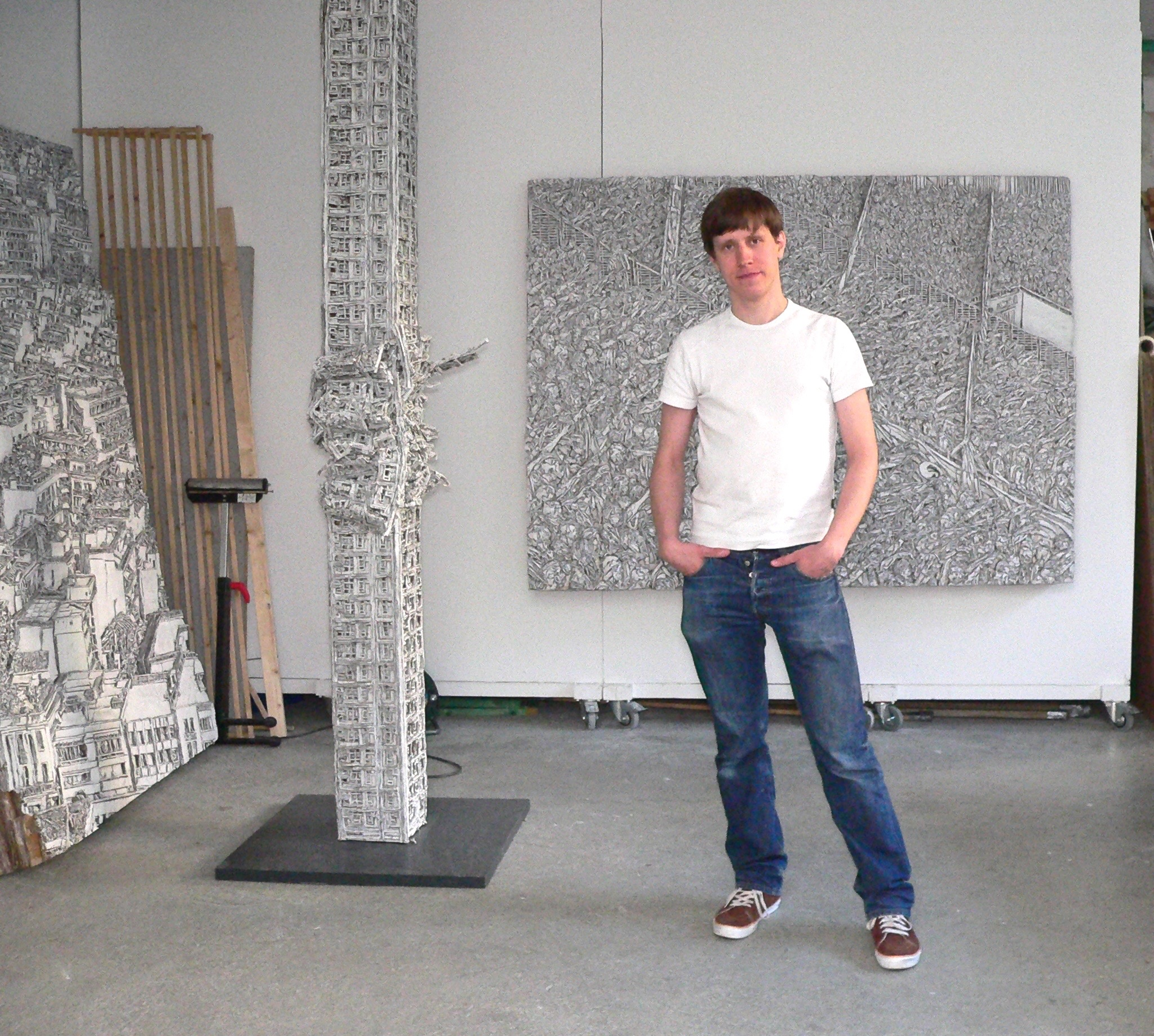 Martin Spengler im Atelier 2012