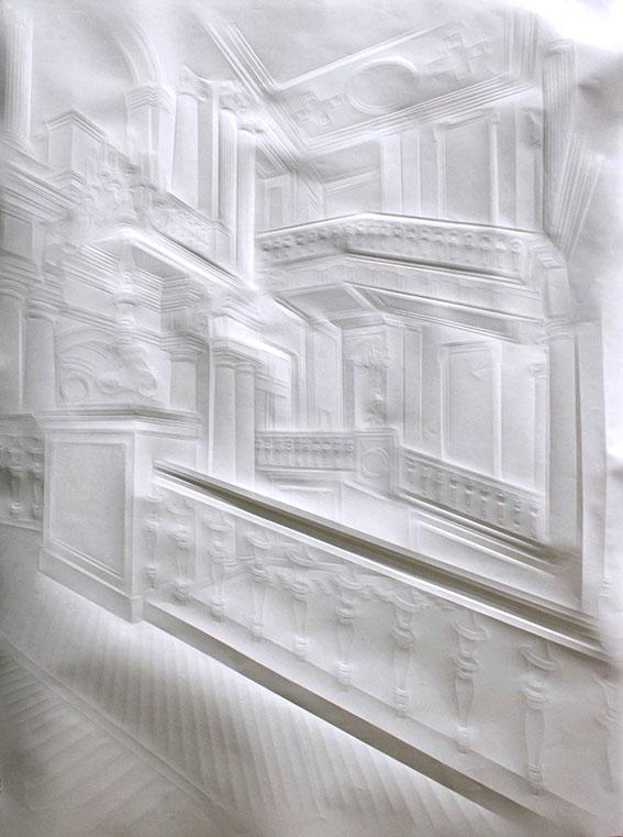 Ohne Titel (großes Treppenhaus links), 2011, 100 x 75cm