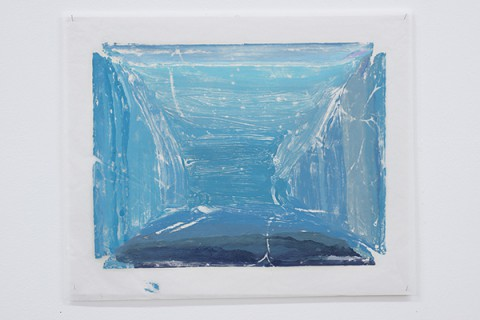 Felix Rehfeld - Unikat VIII - Monotypie - Blau Hell 1