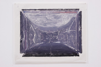 Felix Rehfeld - Unikat VIII - Monotypie - Grauviolett 1