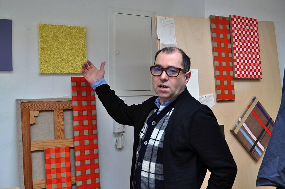 Fernando de Brito im Atelier