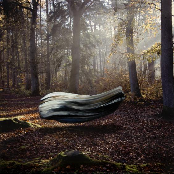 Marc Lüders, Object 829-3-1, 2014, oil on Kodak Endura Metallic print, 100 x 100 cm