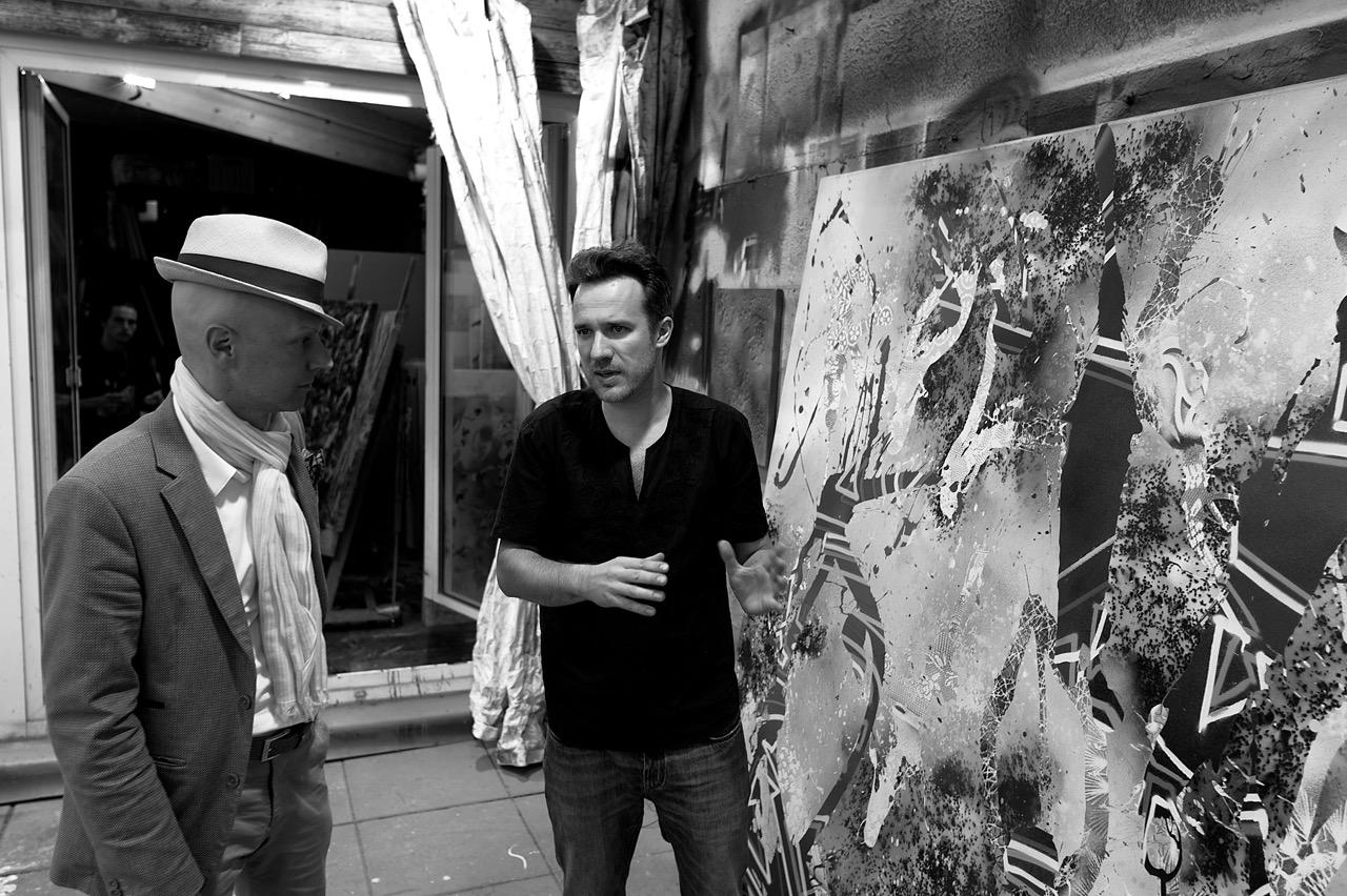 Christian Awe im Atelier mit Rene Spiegelberger