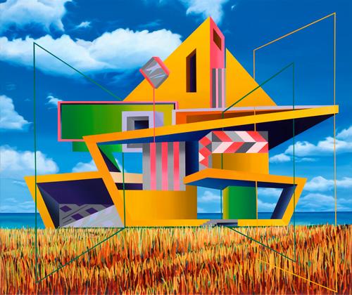 SEO, Leben in Segmenten, 2016, 150 x 180 cm, Acryl-Papiercollage auf Leinwand