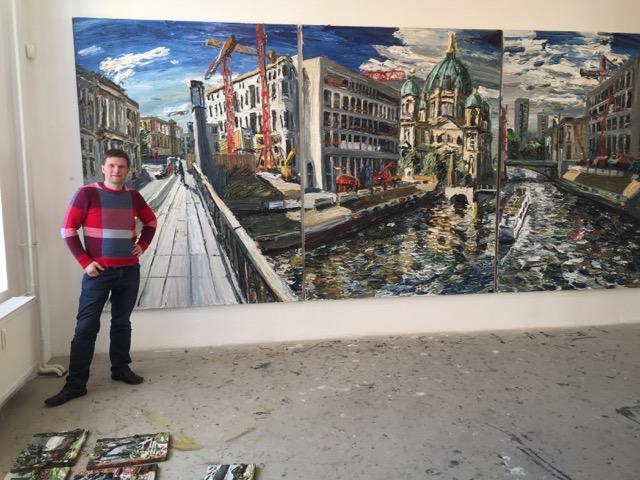 Der Künstler vor dem Berliner Stadtschloss Zyklus