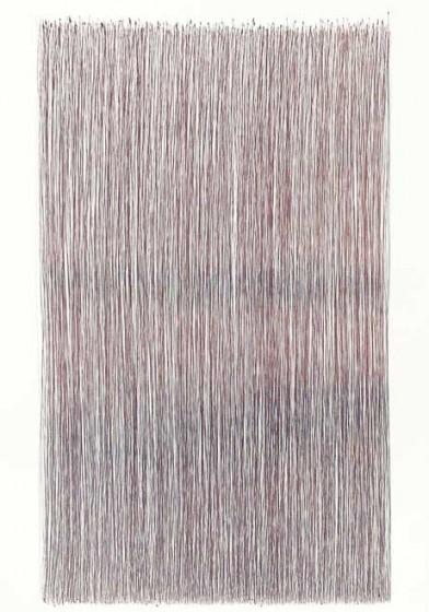 """""""PETER HILLERMANN"""", Fernando de Brito, 2015, Kugelschreiber auf Karton, 42,5 x 61 cm"""