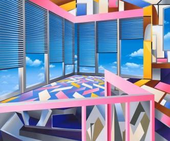 Raum für Dich, 2016, Acryl auf Leinwand, 200 x 165 cm