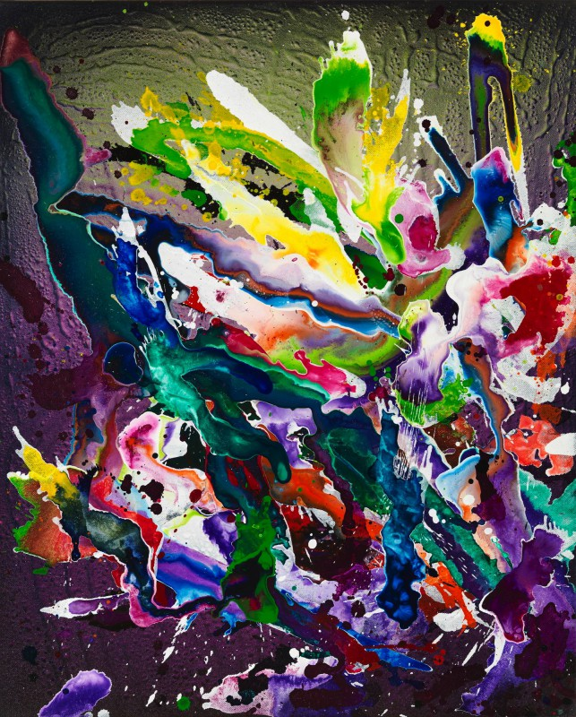 Christian Awe - abstract V, 2017, Acryl auf Leinwand, 80 x 65 cm