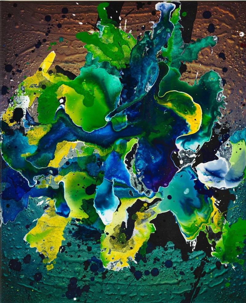 Christian Awe abstract Vll 2017 Acryl auf Leinwand 80 x 65 cm