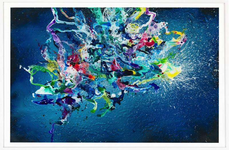 Christian Awe hope, 2017, Acryl auf Papier, 152 x 232cm