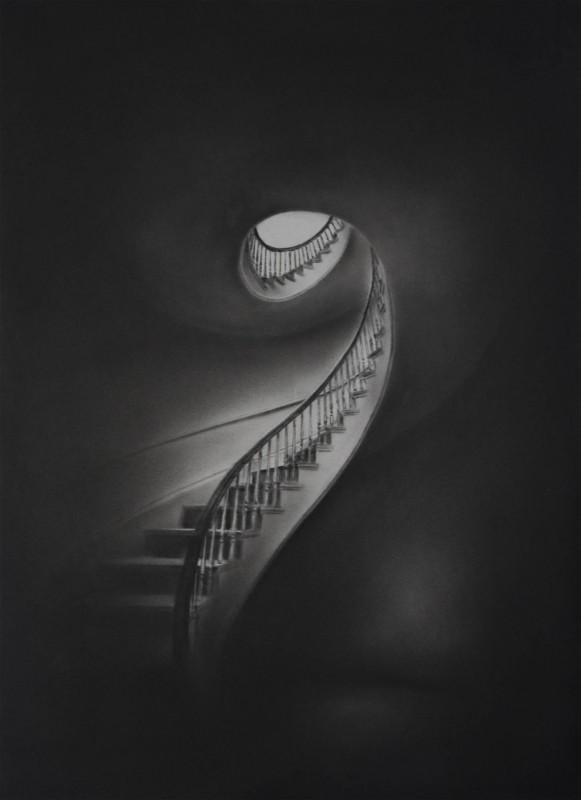 Simon Schubert, ohne Titel, 2018, Graphit auf Papier, 100 x 70 cm