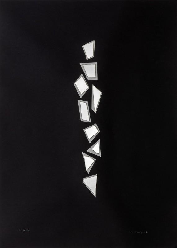 Christian Megert, Ohne Titel (Spiegelcollage), ohne Jahr, 70 × 50 cm