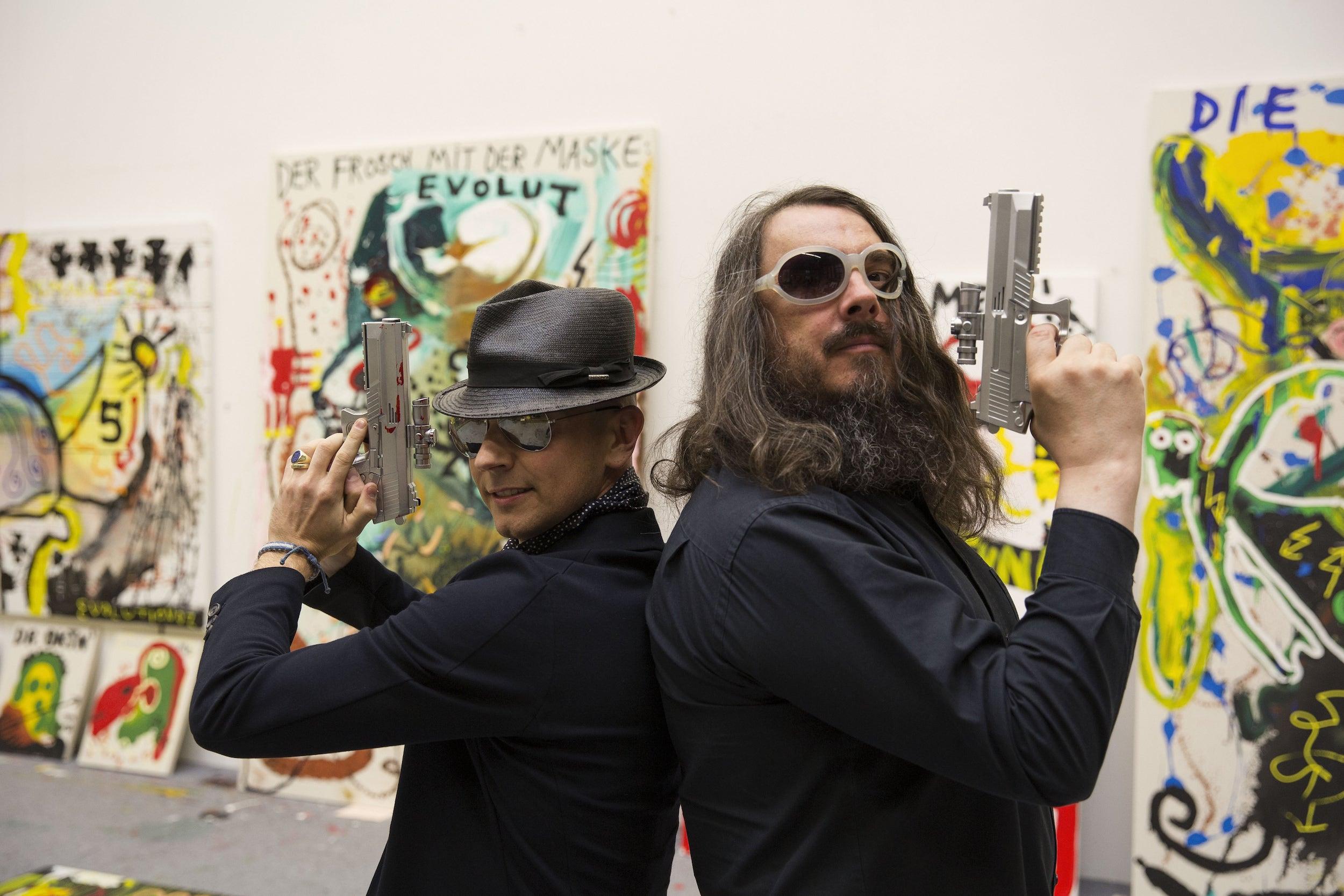Rene S. Spiegelberger & Jonathan Meese im Atelier