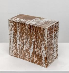 Herbert Zangs, Ohne Titel, ohne Jahr, Dispersion auf Holz, 7 × 5,5 x 4cm