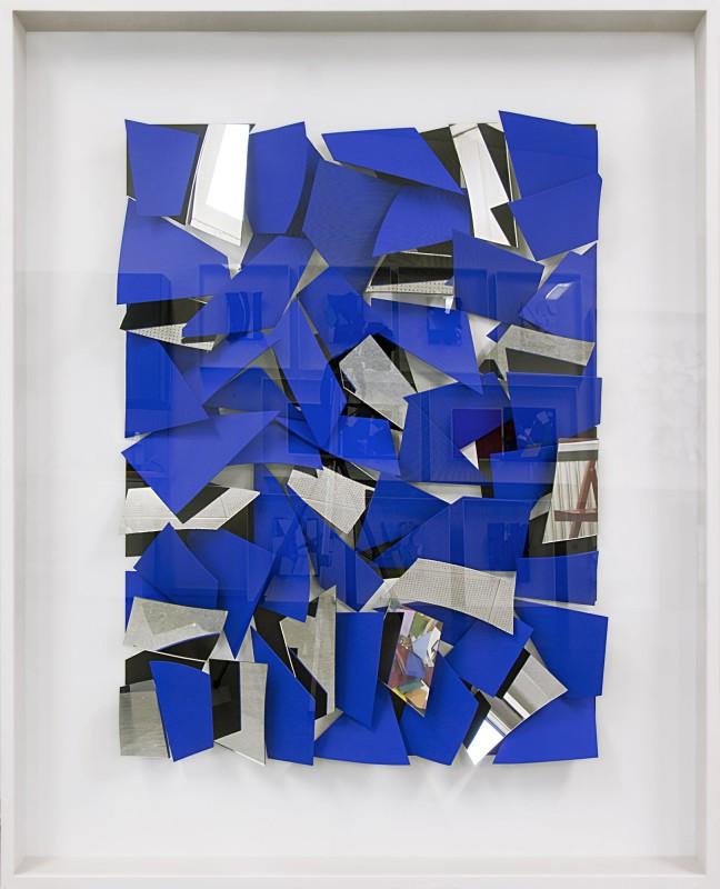162 x 142 x 14 cm, 2011, Holz, Spiegel, im verglasten Holzkasten