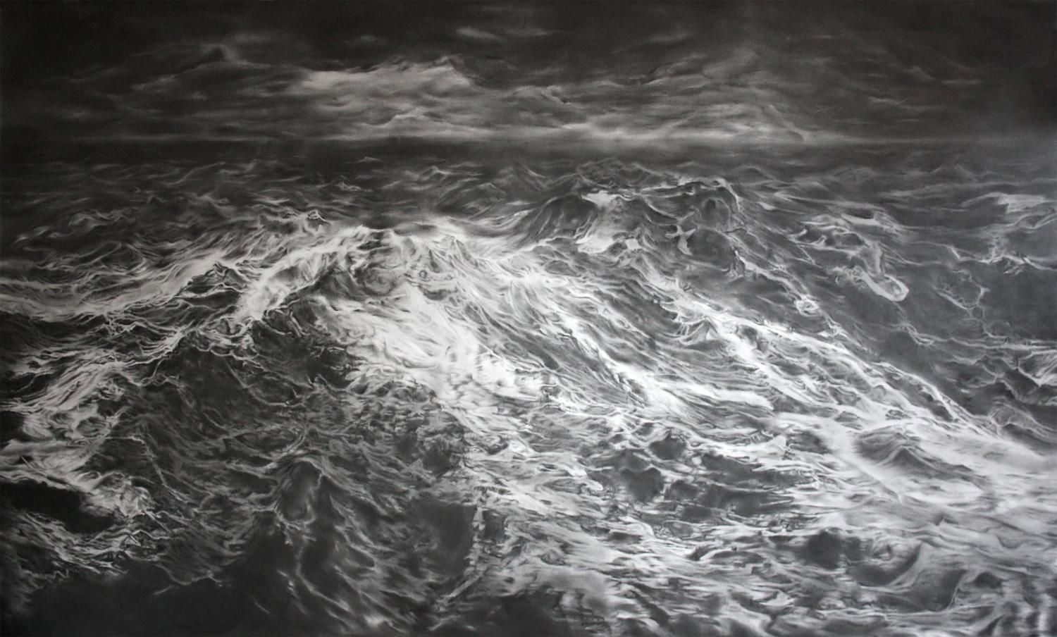Simon Schubert, untitled (the Tempest), Graphite on Paper, 150cm x 250cm, 2015 - 2020